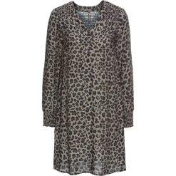 Sukienki: Sukienka ze ściągaczem bonprix szaro-czarny leo
