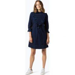 BOSS Casual - Sukienka damska – Evangela, niebieski. Niebieskie sukienki hiszpanki BOSS Casual, na co dzień, z jeansu, casualowe, z falbankami. Za 849,95 zł.