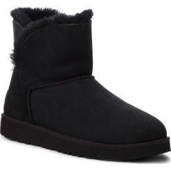 Buty UGG - W Classic Cuff Mini 1016417 W/Blk. Czarne buty zimowe damskie Ugg, z wełny. Za 799,00 zł.