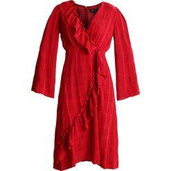 Sukienki: Lost Ink ASYMETRIC WRAP DRESS Sukienka letnia coral