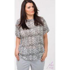 Bluzki asymetryczne: Wzorzysta bluzka na co dzień Plus
