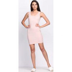 Różowa Sukienka Flashes of Light. Różowe sukienki letnie marki numoco, l, z dekoltem w łódkę, oversize. Za 34,99 zł.