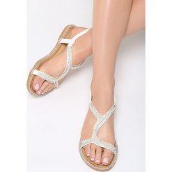 Sandały damskie: Białe Sandały Lights Off