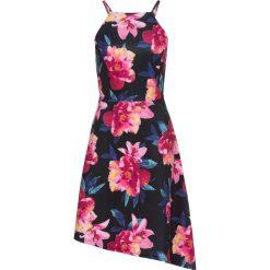 Sukienki: Sukienka w kwiaty bonprix czarno-jasnoróżowy w kwiaty