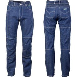 Jeansy męskie regular: W-TEC Męskie jeansy motocyklowe z kevlarem NF-2930 Niebieski r. 4XL (13557-4XL)