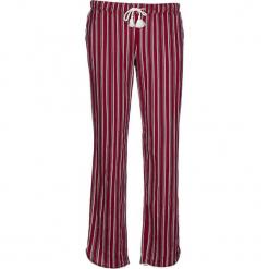 Spodnie piżamowe w kolorze bordowym. Białe piżamy damskie marki LASCANA, w koronkowe wzory, z koronki. W wyprzedaży za 58,95 zł.