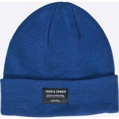 Jack & Jones - Czapka. Czarne czapki zimowe męskie marki Jack & Jones, l, z bawełny, z okrągłym kołnierzem. W wyprzedaży za 24,90 zł.