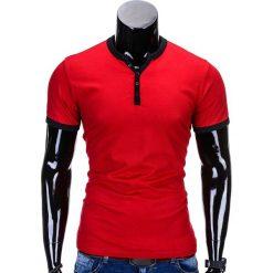 T-SHIRT MĘSKI BEZ NADRUKU S651 - CZERWONY. Czerwone t-shirty męskie z nadrukiem Ombre Clothing, m. Za 29,00 zł.
