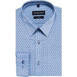 Koszula SIMONE slim KDNS000457. Niebieskie koszule męskie na spinki Giacomo Conti, m, z bawełny, z klasycznym kołnierzykiem. Za 169,00 zł.
