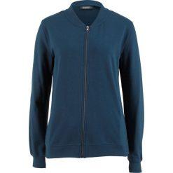 Bluza rozpinana z kołnierzykiem w stylu college bonprix ciemnoniebieski. Niebieskie bluzy rozpinane damskie bonprix. Za 59,99 zł.