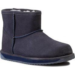 Buty EMU AUSTRALIA - Paterson Mini W10946 Indigo 2015. Niebieskie buty zimowe damskie EMU Australia, z kauczuku. W wyprzedaży za 449,00 zł.