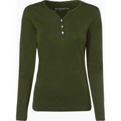 Brookshire - Damska koszulka z długim rękawem, zielony. Czarne t-shirty damskie marki brookshire, m, w paski, z dżerseju. Za 99,95 zł.