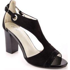 Rzymianki damskie: Sandały damskie na słupku czarne Jezzi
