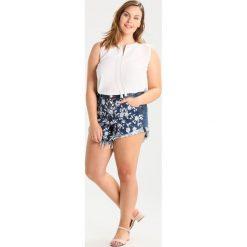Bermudy damskie: Glamorous Curve FLORAL Szorty jeansowe blue denim