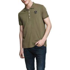 Koszulka polo w kolorze khaki. Brązowe koszulki polo Camel Active, Varsity, l. W wyprzedaży za 72,95 zł.