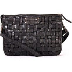 Torebki klasyczne damskie: Skórzana torebka w kolorze czarnym – 25 x 17 x 8 cm