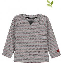 Koszulka w kolorze szarym. Szare bluzki dziewczęce bawełniane bellybutton, w paski, z okrągłym kołnierzem. W wyprzedaży za 37,95 zł.