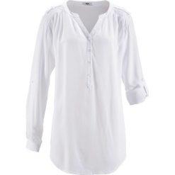 Tunika, długi rękaw bonprix biały. Białe tuniki damskie z długim rękawem bonprix. Za 74,99 zł.