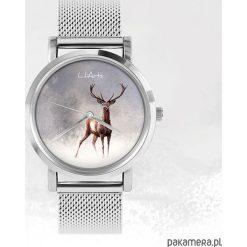 Zegarki męskie: Zegarek - Jeleń 2 - metalowy
