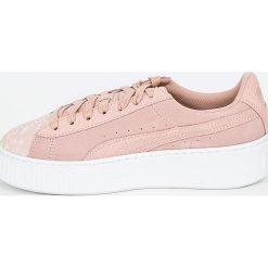 Puma - Buty Suede Platform Pebble Wn's. Szare buty sportowe damskie marki Puma, z materiału. W wyprzedaży za 299,90 zł.
