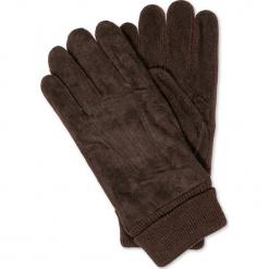 RĘKAWICZKI MĘSKIE A102 - BRĄZOWE. Brązowe rękawiczki męskie Inny. Za 19,99 zł.