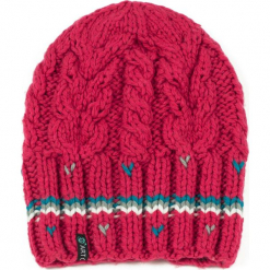 Czapka damska Stripes różówa. Czerwone czapki zimowe damskie marki Art of Polo. Za 37,60 zł.