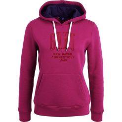 Bluzy damskie: GANT NEW HAVEN  Bluza z kapturem raspberry purple