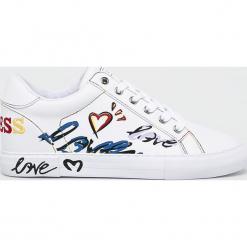 Guess Jeans - Buty. Szare buty sportowe damskie Guess Jeans, z aplikacjami, z jeansu. Za 439,90 zł.