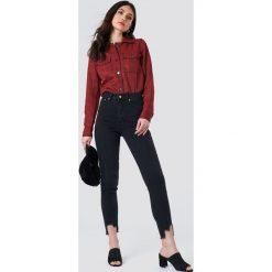 NA-KD Jeansy slim z wysokim stanem - Black. Niebieskie jeansy damskie slim marki Sinsay, z podwyższonym stanem. Za 202,95 zł.