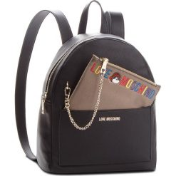 Plecak LOVE MOSCHINO - JC4277PP06KK0000 Nero. Czarne plecaki damskie Love Moschino, ze skóry ekologicznej, eleganckie. Za 959,00 zł.