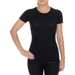 Bluzki sportowe damskie: Brubeck Koszulka damska z krótkim rękawem Active Wool czarna r. L (SS11700)