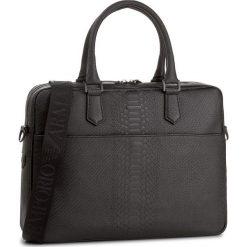 Torba na laptopa EMPORIO ARMANI - Y4P082 YDE3V 80001 Black. Szare plecaki męskie marki Emporio Armani, l, z nadrukiem, z bawełny, z okrągłym kołnierzem. Za 3359,00 zł.