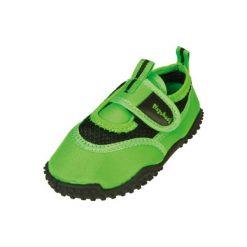 Playshoes  Buty do wody neon zielony - Gr.Moda (6 - 24 miesięcy ). Zielone buciki niemowlęce marki Playshoes, z materiału. Za 59,00 zł.