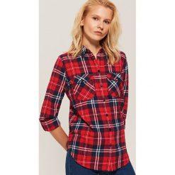 Koszula w kratę - Wielobarwn. Różowe koszule damskie marki House, l. Za 89,99 zł.