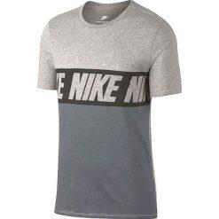 Nike Repeat Logo T-Shirt 856475-063. Szare t-shirty męskie marki Nike, m, z bawełny. W wyprzedaży za 79,99 zł.