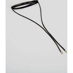 Naszyjniki damskie: Czarny naszyjnik ze sznurkiem