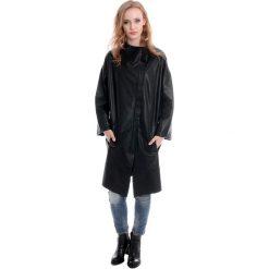 Płaszcz skórzany - YUKI BLAC J15. Czarne płaszcze damskie Venezia, l, z poliesteru. Za 999,00 zł.