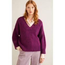 Mango - Sweter Bugan. Szare swetry oversize damskie Mango, l, z dzianiny. Za 159,90 zł.