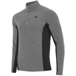 4F Męska Bluza Termoaktywna H4Z17 bimp002 Szary Melanż L. Białe bluzy męskie rozpinane marki B'TWIN, m, z elastanu, z krótkim rękawem. W wyprzedaży za 57,00 zł.