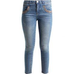 Mos Mosh SHINE SPLIT 7/8 Jeans Skinny Fit light blue denim. Niebieskie boyfriendy damskie Mos Mosh, z bawełny. W wyprzedaży za 389,35 zł.
