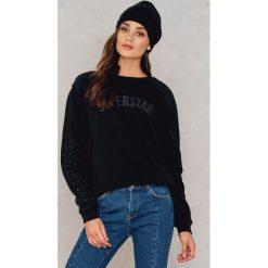 Swetry oversize damskie: Colourful Rebel Sweter oversize ze sznurowaniem Superstar – Black