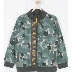 Bluza. Brązowe bluzy chłopięce rozpinane Wild, na jesień, moro, z bawełny. Za 85,90 zł.