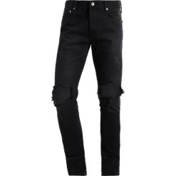 Jeansy męskie regular: Topman Jeansy Slim Fit black