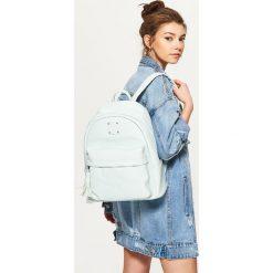 Plecaki damskie: Plecak z kontrastową podszewką - Niebieski
