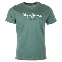 Pepe Jeans T-Shirt Męski Eggo Xxl Zielony. Zielone t-shirty męskie Pepe Jeans, l, z jeansu, dekolt w kształcie v. Za 125,00 zł.