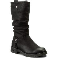Botki JENNY FAIRY - WS16371-10A Czarny. Czarne buty zimowe damskie Jenny Fairy, z polaru, na obcasie. Za 139,99 zł.