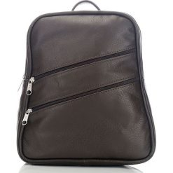 Plecaki damskie: ALENA Skórzany plecak damski Brązowy