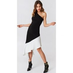 Sukienki: Lavish Alice Asymetryczna sukienka na jedno ramię – Black,Multicolor
