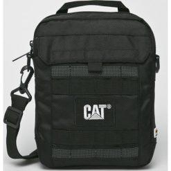 Caterpillar - Torba. Czarne torby na laptopa marki Caterpillar, w paski, z materiału. Za 159,90 zł.