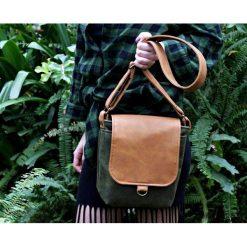 Torebki klasyczne damskie: Safari zieleń+rudy